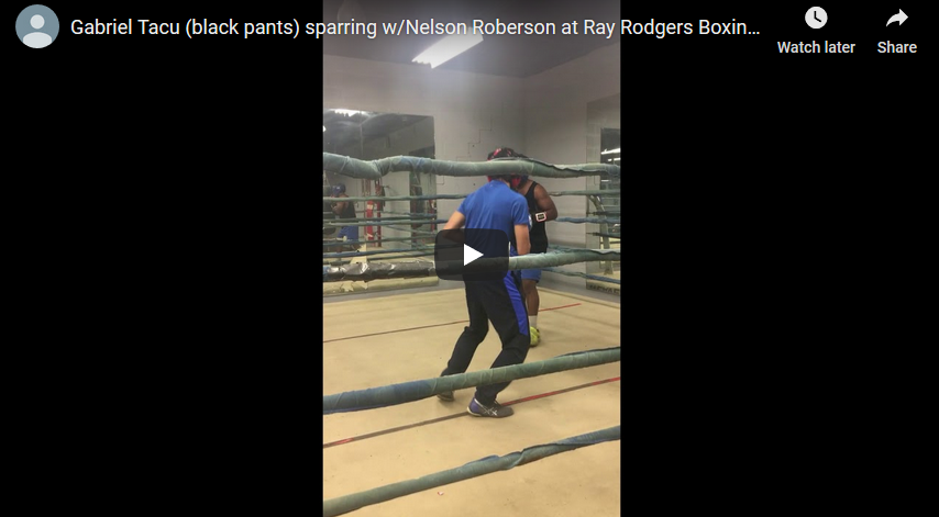 Videos – Tacu sparring at Ray Rodgers Boxing Club 2018