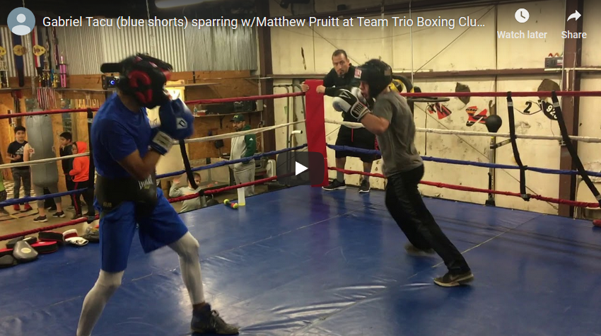 Video – Tacu Sparring at Team Trio Boxing Club 2018